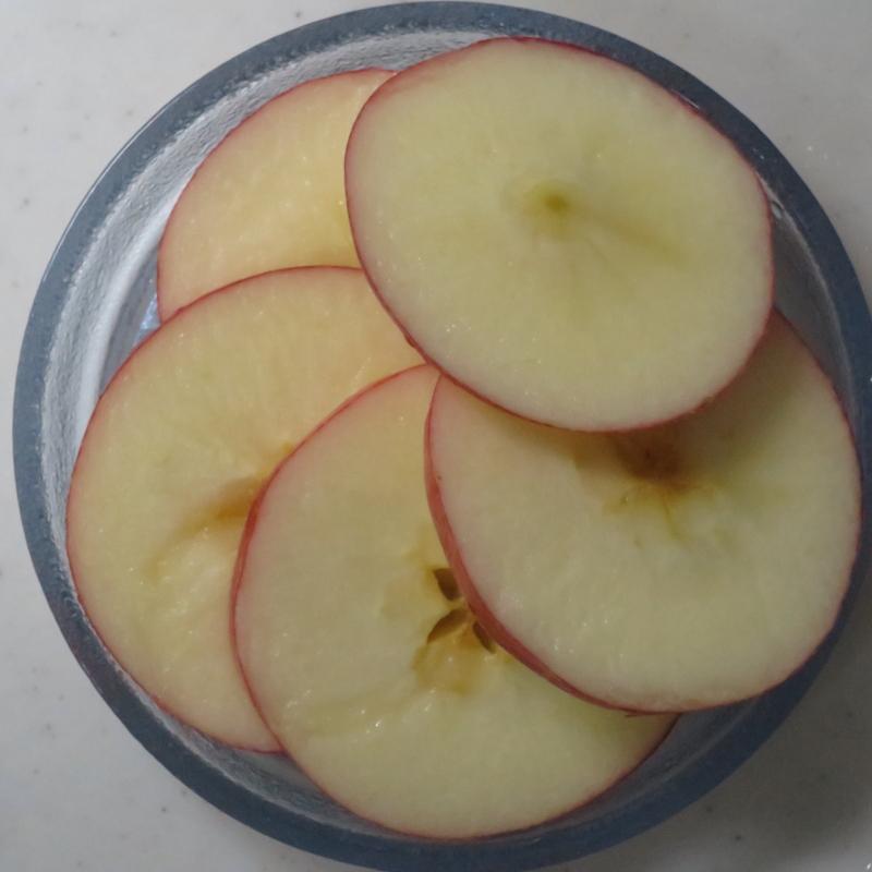 リンゴの輪切り